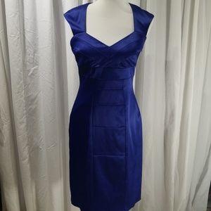 Sangria Blue Satin Dress